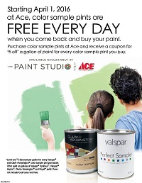 Free Pints of Paint at Standard 5 & 10 Ace